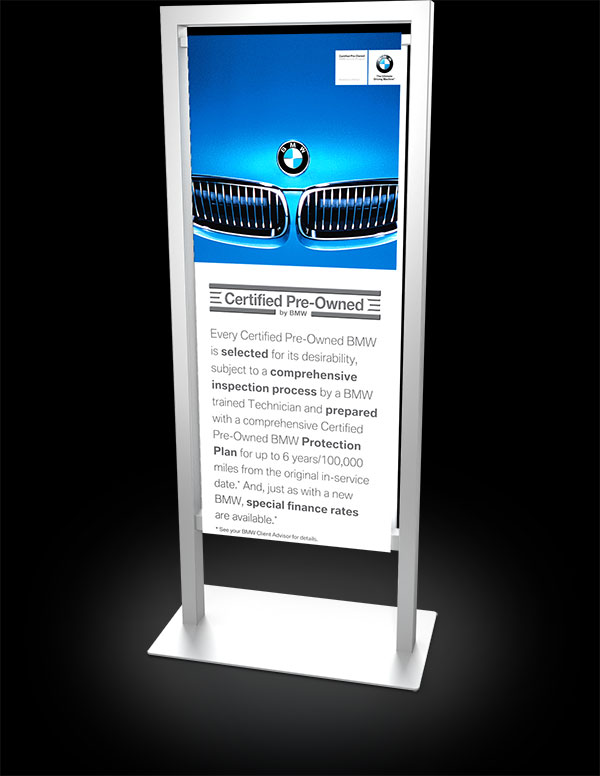 example of BMW Certified Preowned Kiosk