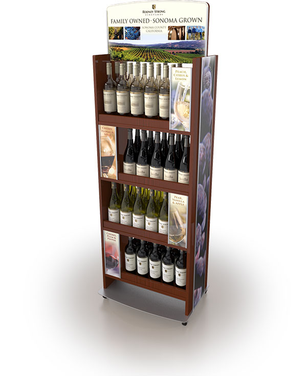 example of Kroger Wine Rack