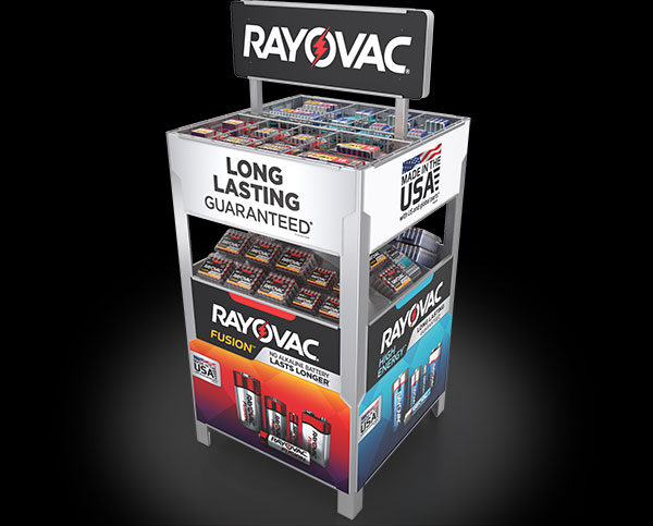 example of Rayovac Home Depot Pallet Display