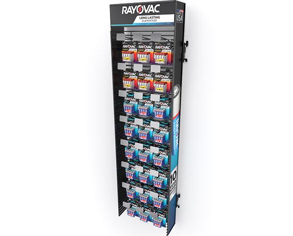 example of Rayovac Walmart Sidekick Battery Display