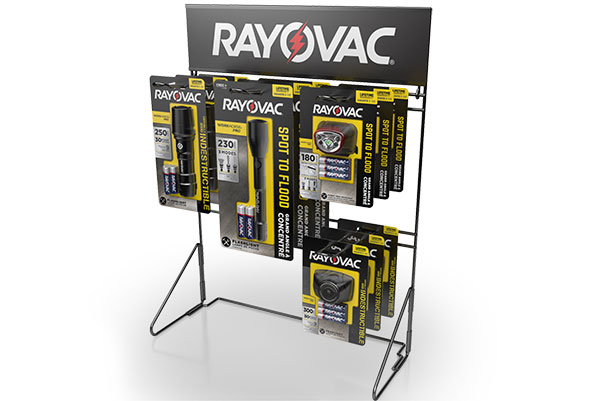 example of Rayovac Counter Flashlight Display