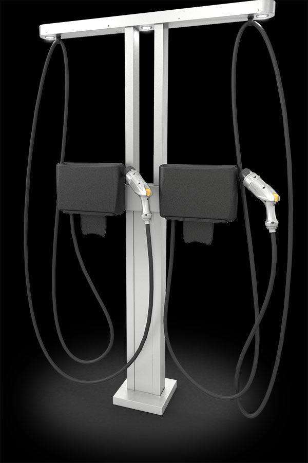 example of ABM-Chargepoint Dual Charge Stand