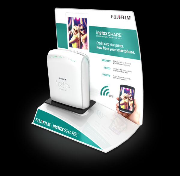 example of FUJIFILM Instax Printer Display