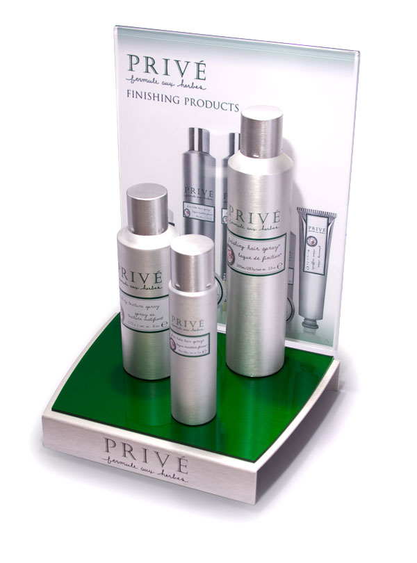 example of Privé Counter Display