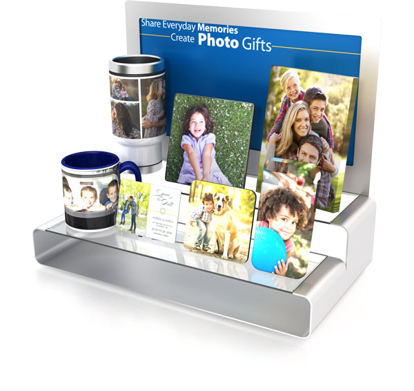 example of FUJIFILM Photo Gift Display